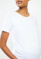 edit Maternity - 2 Pack maternity fitted tees - white & black