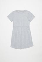 Rebel Republic - Girls jersey dress - grey melange