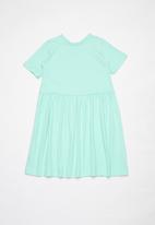 POP CANDY - Girls 2 pack short sleeve dress - mint & grey