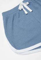 Baby Star - 2 Piece ribbed set - blue