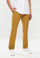 Jonathan D - Stretch cotton trouser with side entry pockets - tan