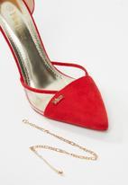 Plum - Inaya heel - red