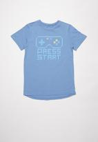 Rebel Republic - Boys styled short sleeve T-shirt - blue