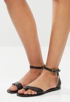 Superbalist - Gean leather ankle strap sandal - black