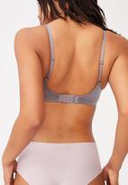Cotton On - Ultimate comfort push up bra - light gunmetal