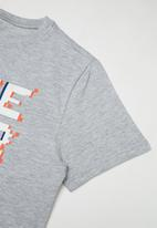Rebel Republic - Boys styled short sleeve T-shirt - grey