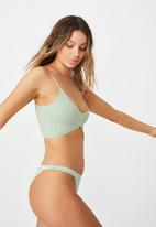 Cotton On - Seamfree rib ballet bralette - mint chip