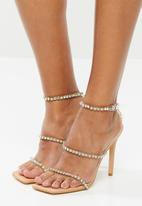Public Desire - Heartbreak diamante strappy - neutral