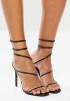 Public Desire - Caris ankle wrap heels - black