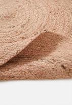 Sixth Floor - Sole jute round rug - pink