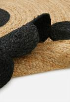 Sixth Floor - Pepper jute rug - black & natural