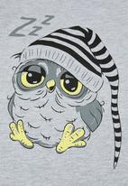 POP CANDY - Pants & short sleeve tee pj set - grey & black