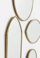 Sixth Floor - Aya mirror set of 4 - gold