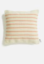 Sixth Floor - Jasp cushion cover - peach & cream