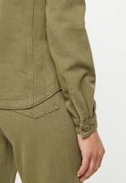 Missguided - Denim shirt co ord - khaki