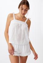 Cotton On - Woven bed cami - white