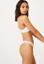 Cotton On - Summer lace g string brief - cream