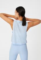 Cotton On - All things fabulous cropped muscle tank - baby blue