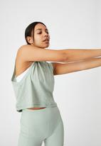 Cotton On - All things fabulous cropped muscle tank - mint chip