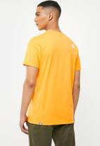 The North Face - Short sleeve mount line tee - yellow