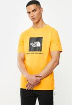The North Face - Short sleeve rag red box tee - yellow