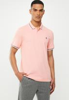 Original Penguin - Tipped polo - pink