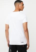 S.P.C.C. - Mansell fashion straight hem T-shirt - white