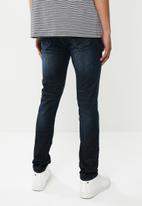 S.P.C.C. - Midnight shadows premium trench jeans - indigo