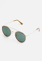Superbalist - Knox avaitor sunglasses - gold & brown
