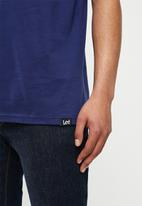 Lee  - Splatter logo tee - navy