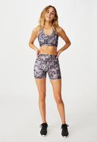 Cotton On - Workout cut out crop - butterfly spot
