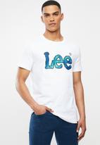 Lee  - Splatter logo tee - white