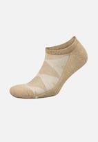 Falke - Silver cushion no show socks - brown melange