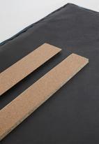 Sixth Floor - Panel headboard - Steel - Queen