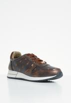 POLO - Everly monogram sneaker - brown