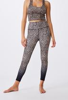 Cotton On - Love you a latte 7/8 active tight - animal ombre