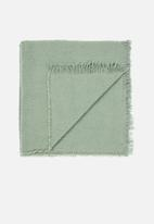 Linen House - Ario throw - wasabi