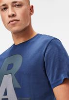 G-Star RAW - Raw graphic tee - imperial blue
