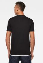 G-Star RAW - Felt applique logo slim tee - black