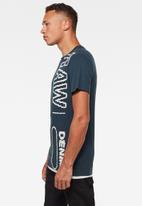 G-Star RAW - Raw vertical logo short sleeve tee - legion blue