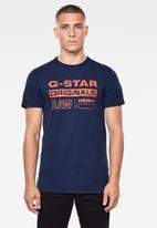 G-Star RAW - Wavy logo originals tee - imperial blue