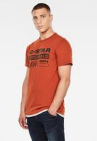 G-Star RAW - Wavy logo originals tee - orange
