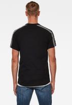 G-Star RAW - Sport tape logo + r short sleeve tee - black