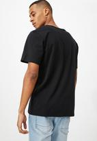 Cotton On - Essential henley T-shirt - black