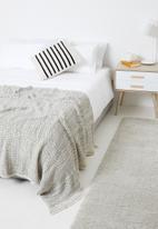 Sixth Floor - Luna knitted throw - grey
