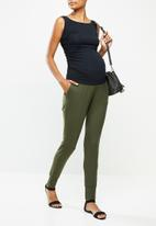 Cherry Melon - Maternity soft jogger pants - khaki