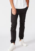 Cotton On - Drake cuffed pant - true black