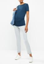 Cherry Melon - Jewel neck top - indigo