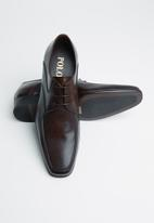 POLO - Darren pin punched vamp lace up - brown