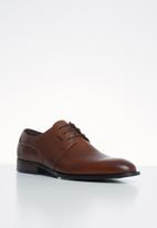 POLO - Carlos plain vamp lace up - brown